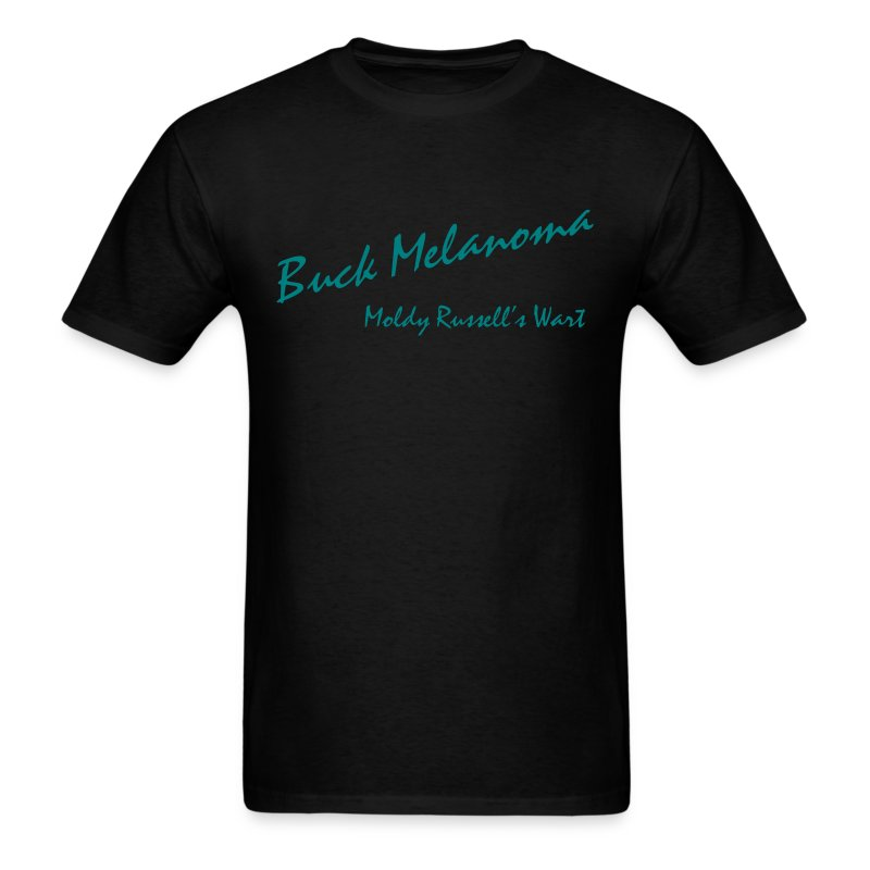 Buck melanoma t shirt spreadshirt for Two bucks t shirts