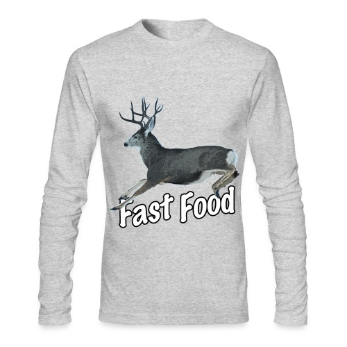 Fast Food Buck Deer - Men's Long Sleeve T-Shirt by Next Level