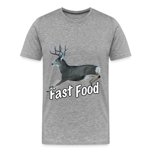 Fast Food Buck Deer - Men's Premium T-Shirt