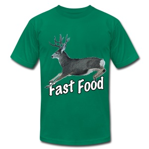 Fast Food Buck Deer - Men's T-Shirt by American Apparel