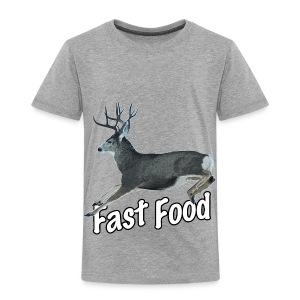 Fast Food Buck Deer - Toddler Premium T-Shirt