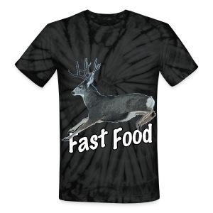 Fast Food Buck Deer - Unisex Tie Dye T-Shirt