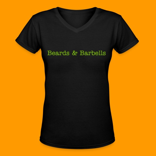 Beards & Barbells - Women's V-Neck T-Shirt