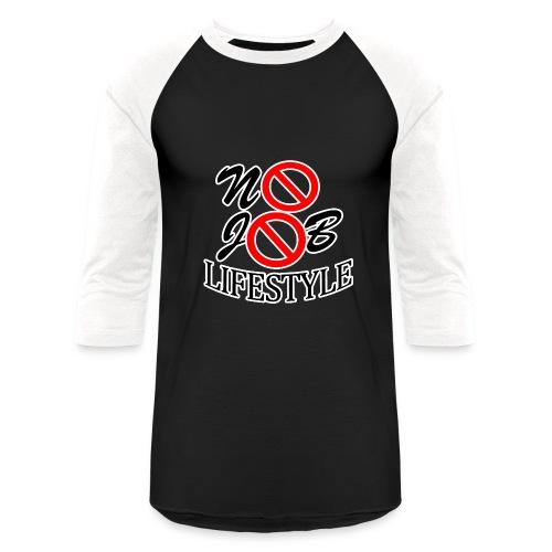 Men's N.J.L. White BaseballShirt - White Logo - Baseball T-Shirt