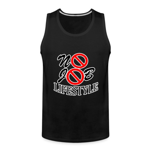 Men's N.J.L. BlackTankTop - White Logo - Men's Premium Tank