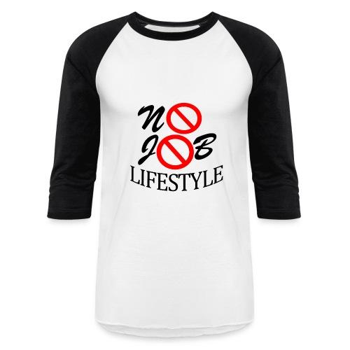 Men's N.J.L. Black BaseballShirt - White Logo - Baseball T-Shirt