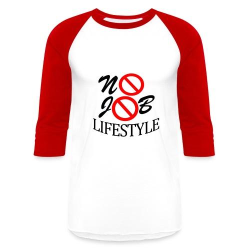 Men's N.J.L. Red BaseballShirt - White Logo - Baseball T-Shirt
