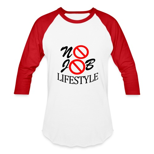 Men's N.J.L. Red BaseballShirt - White Logo - Baseball T-Shirt
