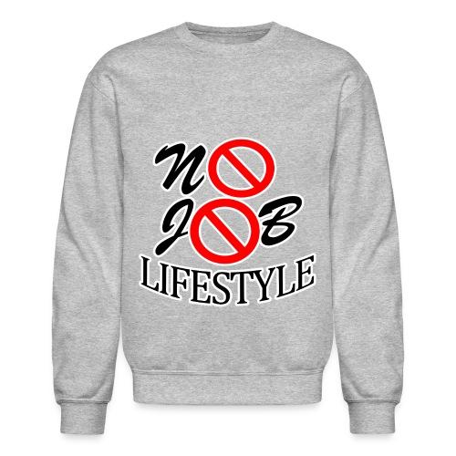 Men's N.J.L. Grey SweatShirt- White Logo - Crewneck Sweatshirt