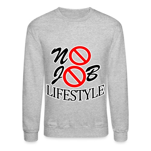 Men's N.J.L. Grey SweatShirt- White Logo - Crewneck Sweatshirt