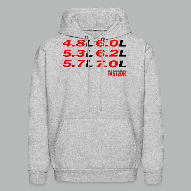 LS Engine Hoodie LS1 LS2 LS3 LS6 LS7 | Men's Hoodie