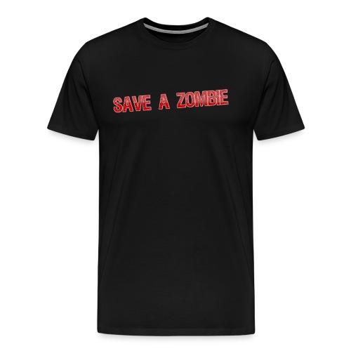 Save A Zombie SHFY Shirt - Men's Premium T-Shirt