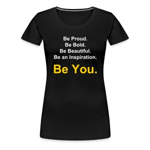 You(nique) Motto Yellow - Women's Premium T-Shirt