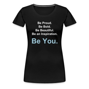 You(nique) Motto Blue - Women's Premium T-Shirt