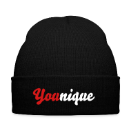 Sportswear ~ Knit Cap with Cuff Print ~ You(nique) Beanie Red