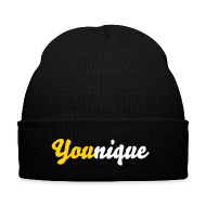 Sportswear ~ Knit Cap with Cuff Print ~ You(nique) Beanie Yellow