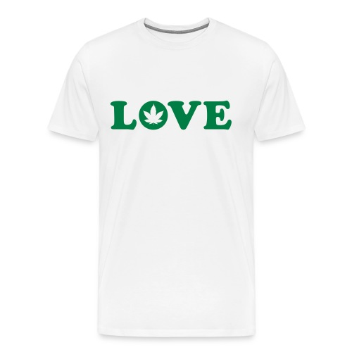 Love Cannabis Leaf - Men's Premium T-Shirt