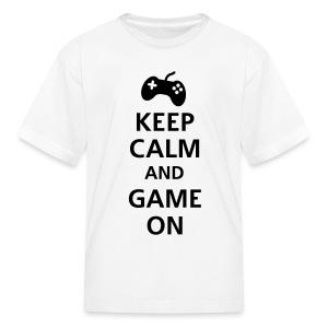 Kids keep-calm-and-game-on - Kids' T-Shirt