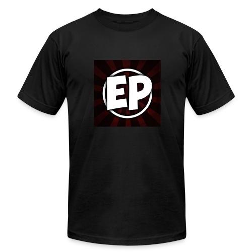 Ewick Plays Logo Large Black T-Shirt - Men's Fine Jersey T-Shirt