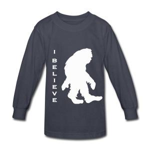Bigfoot I believe w - Kids' Long Sleeve T-Shirt