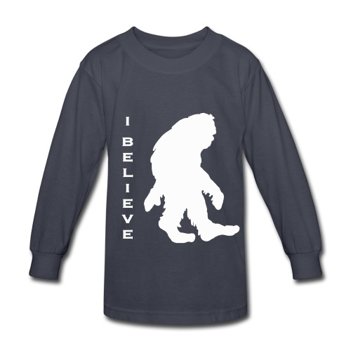 Bigfoot I believe w - Kids' Long Sleeve T-Shirt