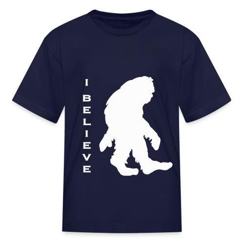 Bigfoot I believe w - Kids' T-Shirt