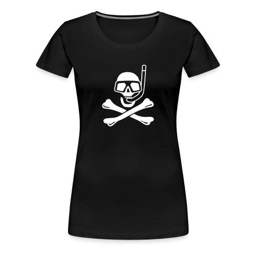 Jolly Diver black lady - Women's Premium T-Shirt