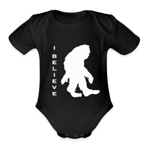 Bigfoot I believe w - Short Sleeve Baby Bodysuit