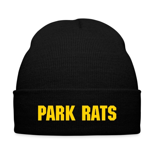 Beanie / Yellow Text - Knit Cap with Cuff Print