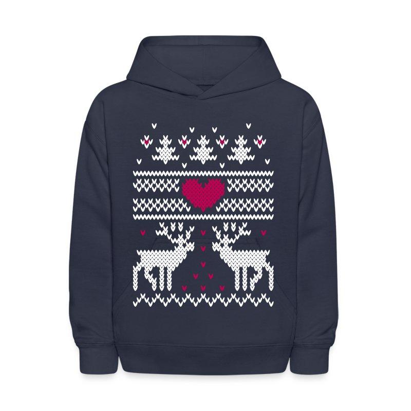 winter knitting pattern v Hoodie - 58.9KB