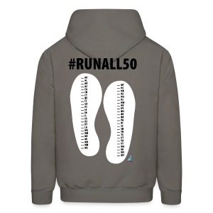 Run 50 - Run 50 States Mark your Progress State List Performance Hoodie (M) - Men's Hoodie