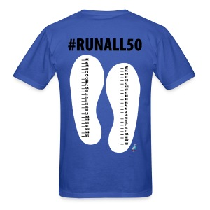 Run 50 - Marathon 26.2 Mark your Progress 50 State List T (M) - Men's T-Shirt