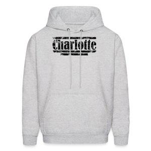 Charlotte Vintage Black Hoodie - Men's Hoodie