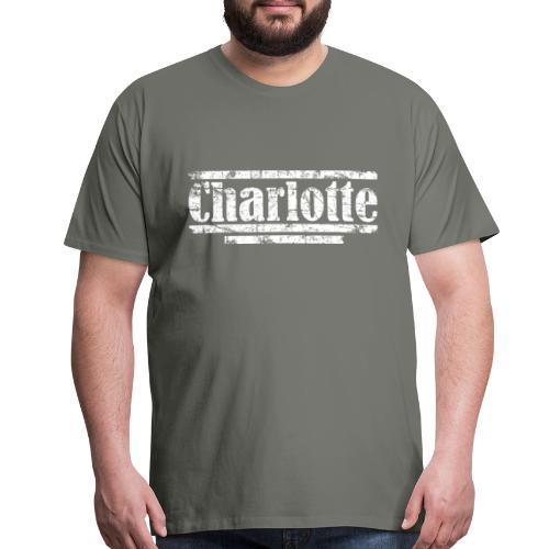 Charlotte Vintage White T-Shirt - Men's Premium T-Shirt
