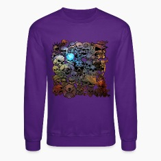Skulls Galaxy Long Sleeve Shirts