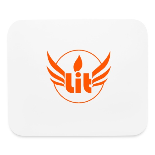 Orange Lit Mousepad - Mouse pad Horizontal