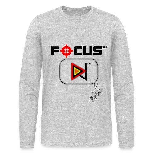 Focus™ Men's Exclusive Long Sleeve T-Shirt (Signed by Wi-z Grey) - Men's Long Sleeve T-Shirt by Next Level