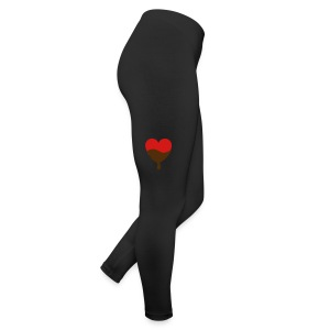 Heart with chocolate Bottoms - Leggings