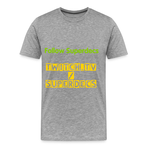Superdecs - T-shirt - Men's Premium T-Shirt