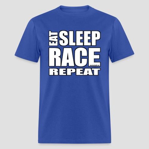Eat Sleep Race Repeat T-Shirt - Men's T-Shirt
