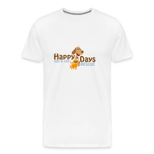 Happy Days Dog and Cat Rescue Men's Shirt! - Men's Premium T-Shirt