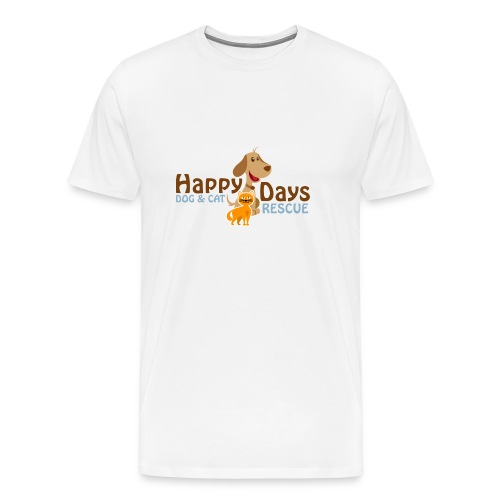 Happy Days Dog and Cat Rescue Men's Shirt! - Men's Premium T-Shirt