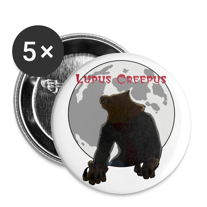 Howling Lupus Buttons - Small - Small Buttons