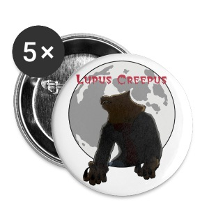 Howling Lupus Buttons - Large - Large Buttons