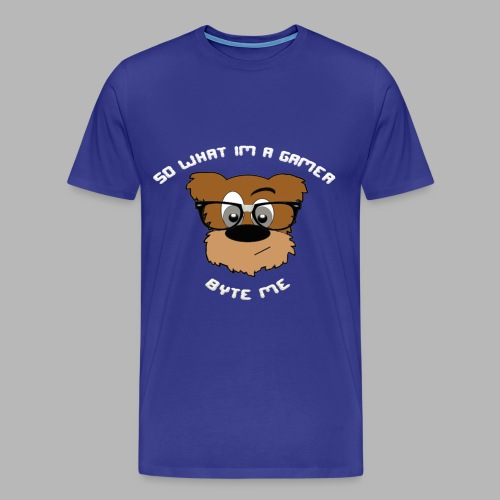 Nerdy Bear So What (White)  - Men's Premium T-Shirt