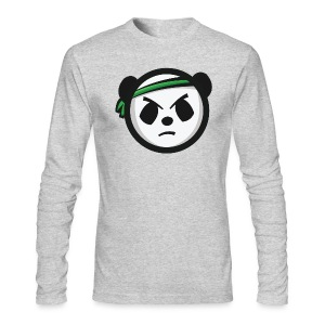 Grey Crew Neck - Markee Panda Logo - Men's Long Sleeve T-Shirt by Next Level