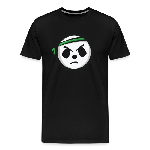 Black T-Shirt - Markee Panda Logo - Men's Premium T-Shirt