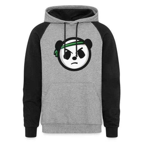 Grey & Black Hoodie - Markee Panda Logo  - Colorblock Hoodie