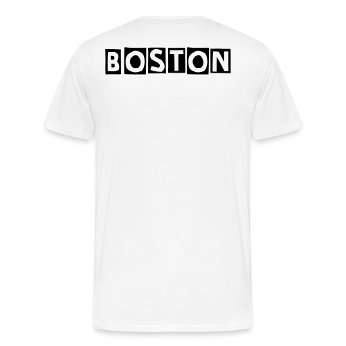 C.V's REP WhErE YA AT ! BOSTON (MEN'S Tee) - Men's Premium T-Shirt