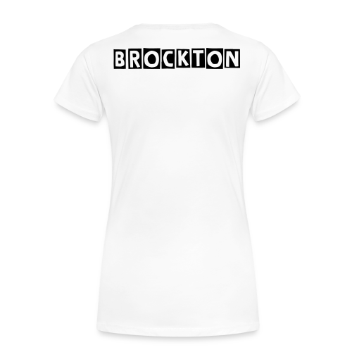 C.V's REP WhErE YA AT ! BROCKTON (Women's Tee)  - Women's Premium T-Shirt